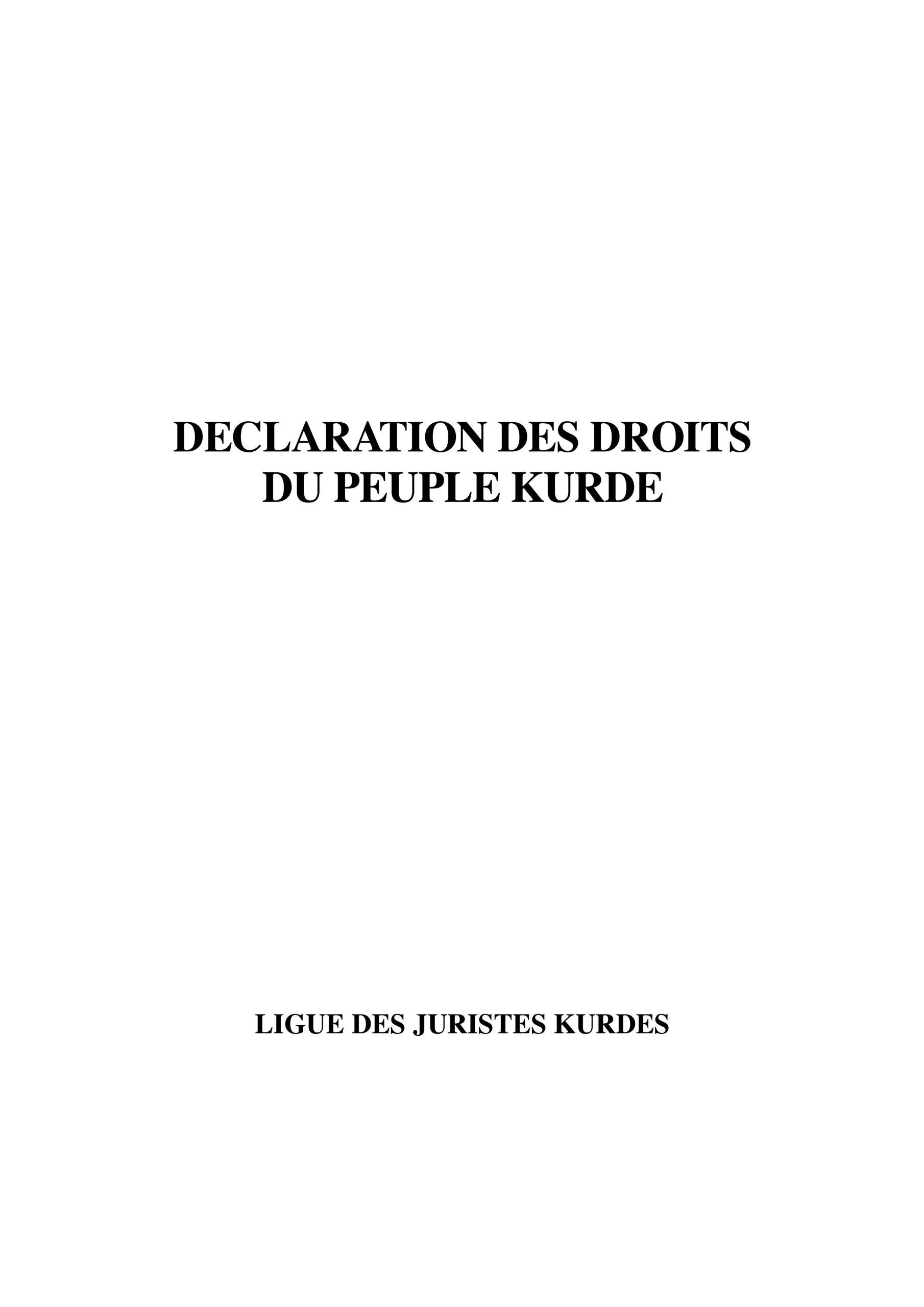Déclaration des droits du peuple kurde