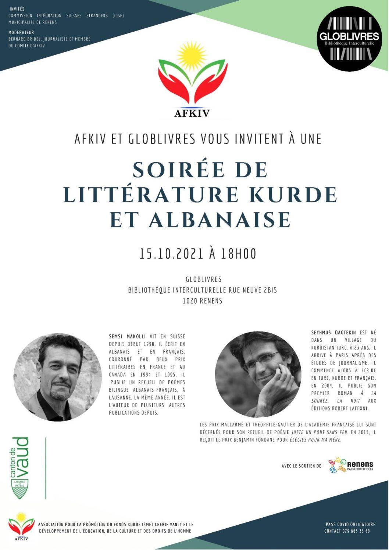 Soirée de littérature kurde et albanaise