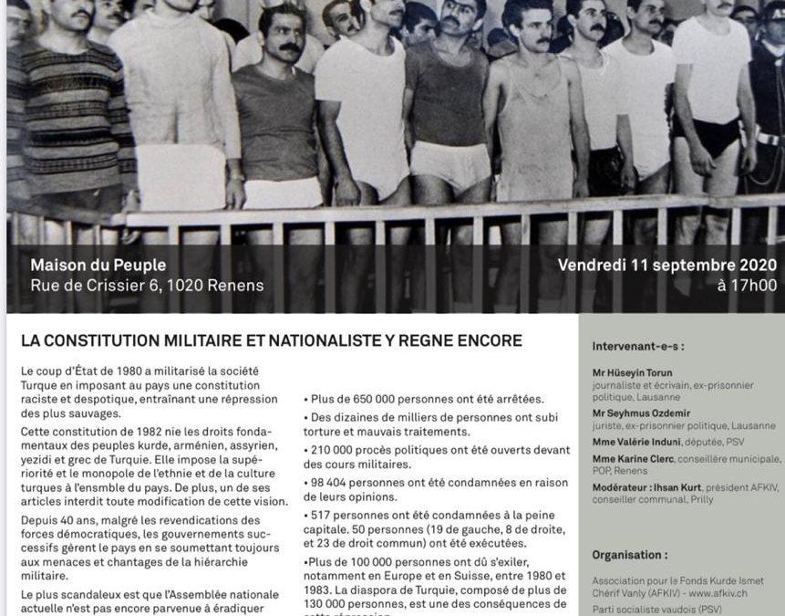40ème année du coup d'Etat militaire en Turquie