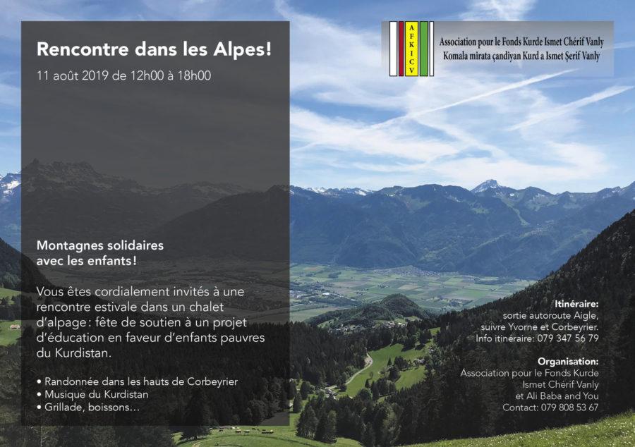 Rencontre dans les Alpes